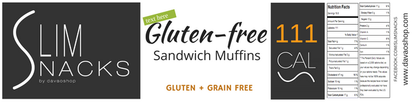 Sandwich Muffins Keto-Gluten Free - Slim Snacks Philippines