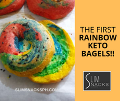 The First Rainbow Keto Bagels - Slim Snacks Philippines