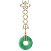 Art Deco Jade & Diamond Pendant