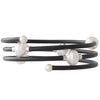 Neoprene & White Pearl Bangle