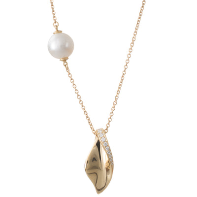 Pendant & Pearl Chain Necklace