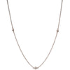 White Gold Diamond Chain 50cm