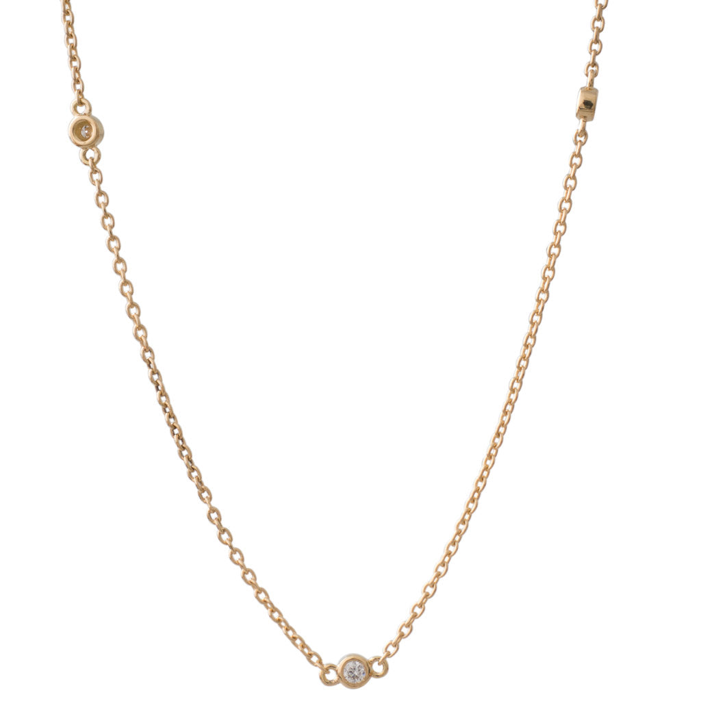 Yellow Gold Diamond Chain 50cm