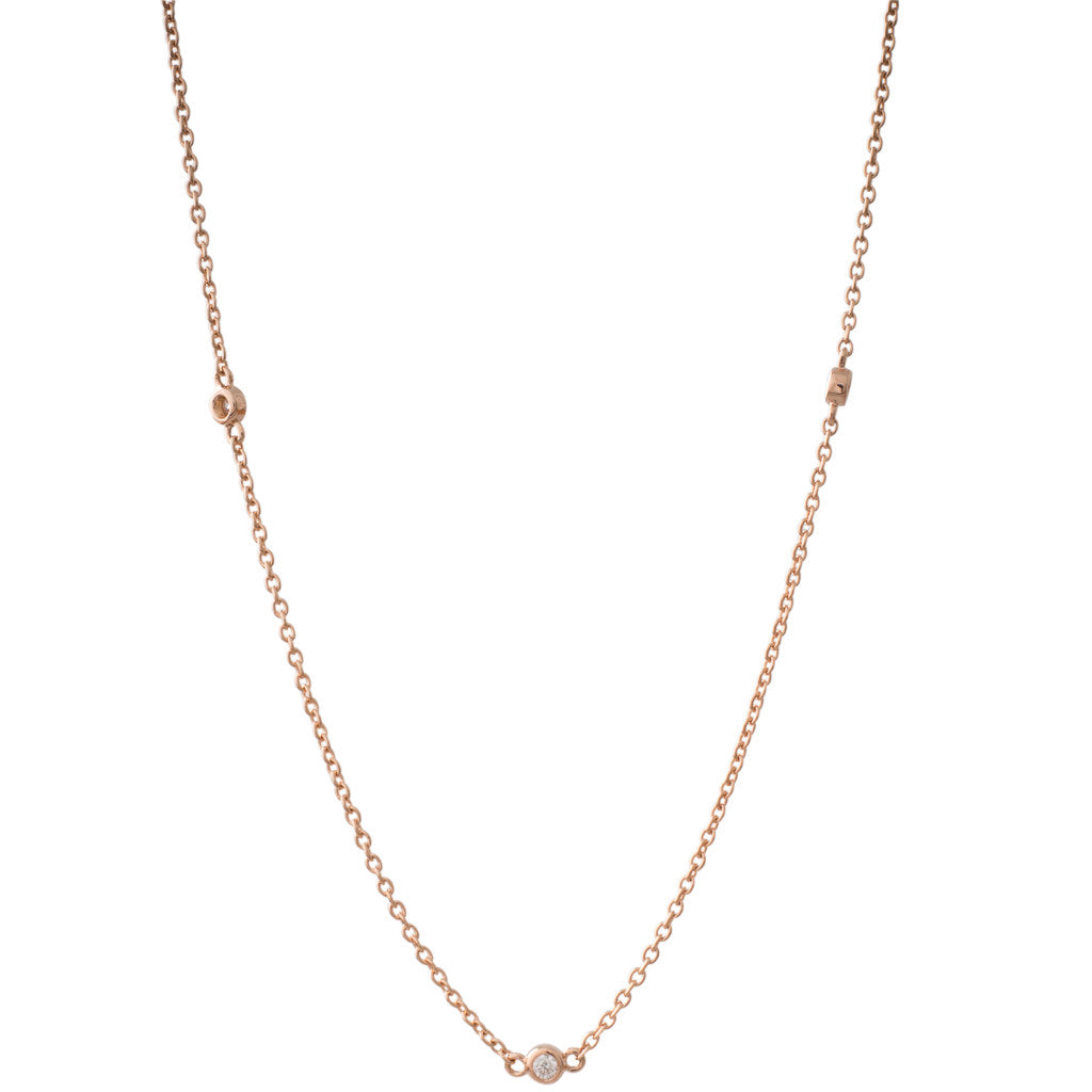 Rose Gold Diamond Chain 50cm