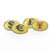 Currency Double Oval Cufflinks
