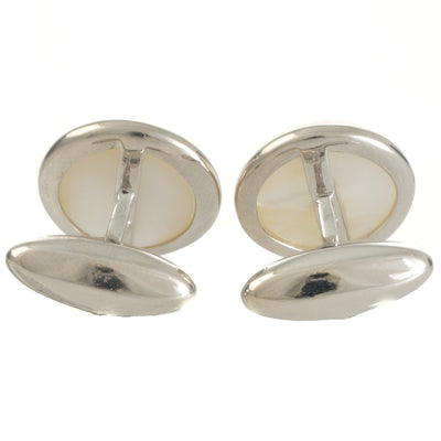 Mabe Cufflinks in 18ct White Gold