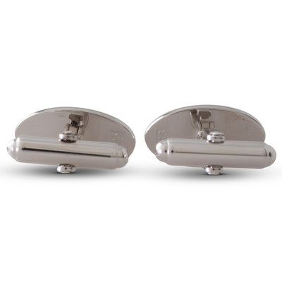 White Enamelled Cufflinks