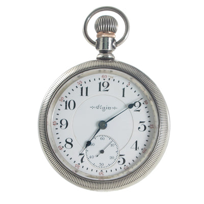 An Antique Silver Elgin Fobwatch