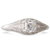 French 0.50ct Asscher Diamond Ring