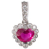 Unheated Heart Shape Ruby Pendant