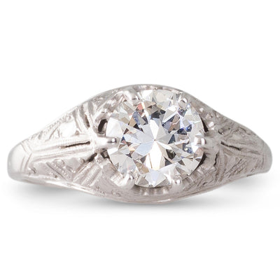 An Art Deco 1.05ct Diamond Ring