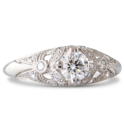 A French 0.41ct Diamond Ring
