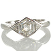 A 1.12ct Hexagonal Cut Diamond Ring