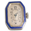 An Art Deco Enamel Pendant Watch