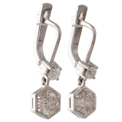 A Pair of Diamond Drop Earrings