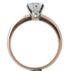 A Rose Gold Diamond Solitaire Ring