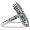 Deco Style Tourmaline Diamond Ring