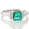 Zambian Emerald & Diamond Ring