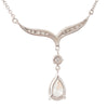 Pear Shape Diamond Drop Necklet