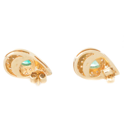 Pear Shaped Emeralds with Diamonds