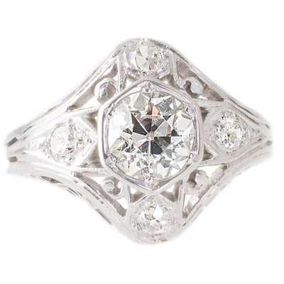 Antique Diamond Plaque Ring
