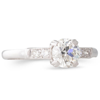 Platinum Diamond Solitaire Ring