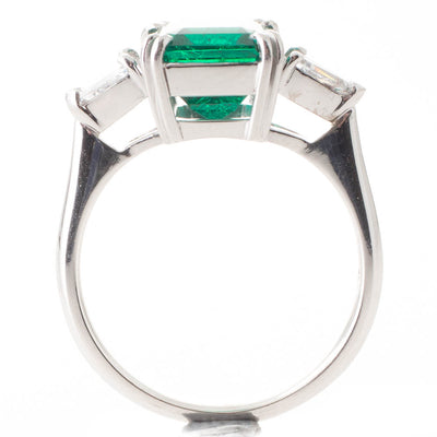 3.32ct Colombian Emerald Ring