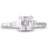 A 1.02ct Asscher Cut Diamond Ring