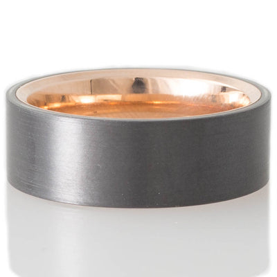 Zirconium and Rose Gold Band
