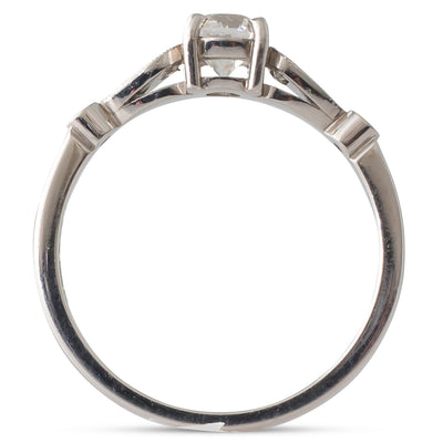 A Platinum Single Stone Ring