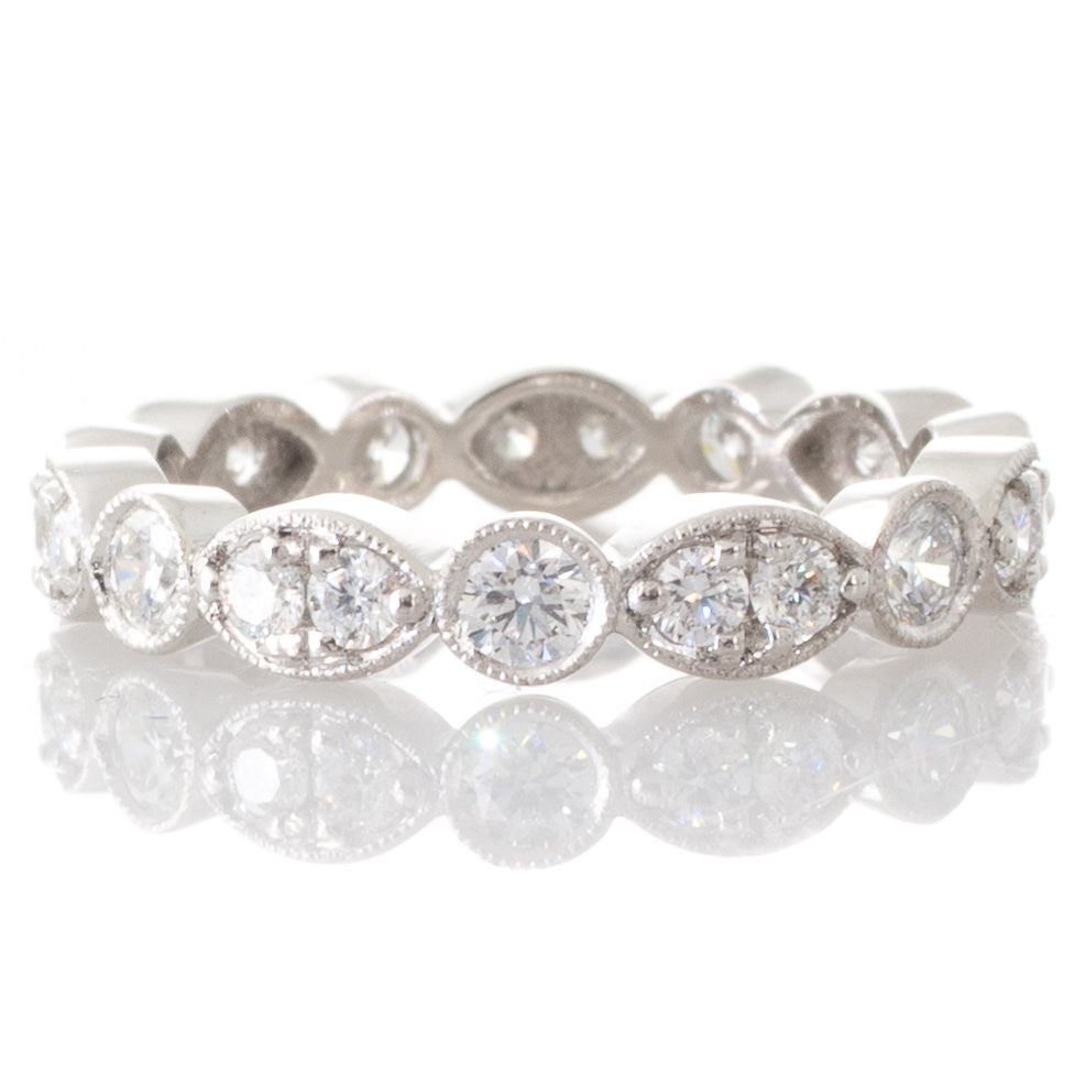 Diamond set Platinum Band