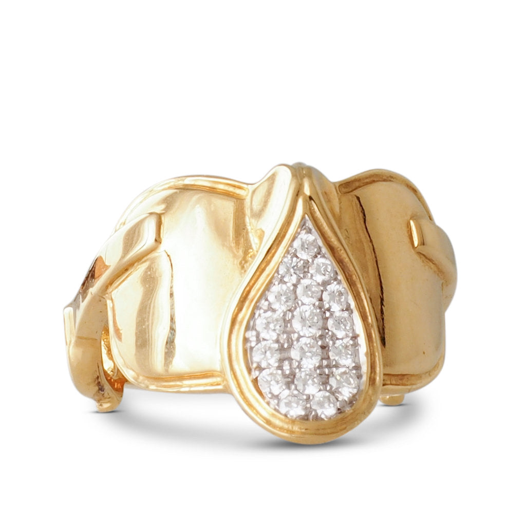 Diamond set Saddle & Stirrups Ring