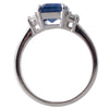 Unheated Sapphire and Diamond Ring