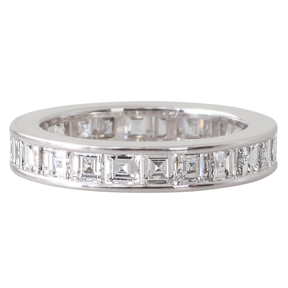 Carre Cut Eternity Diamond Band