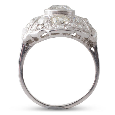 French Art Deco Diamond Ring