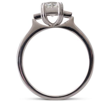 0.75ct Radiant Cut Diamond Ring
