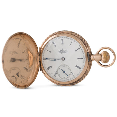 A Gold Multi Colour Pocket Watch