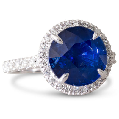4.26ct Sapphire and Diamond Ring