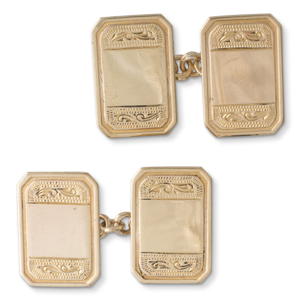 Antique Engraved Cufflinks