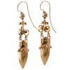 Victorian Gold Urn Earrings