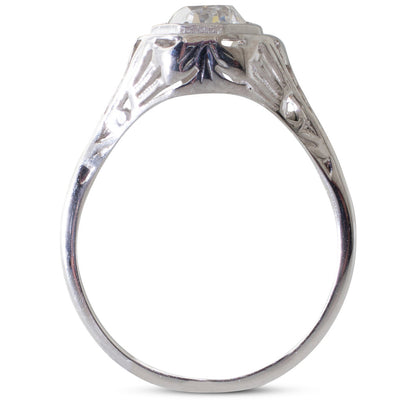 An Old Cut Solitaire Diamond Ring