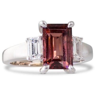 A Tourmaline & Diamond Ring