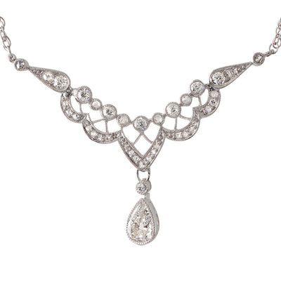 A Diamond Drop Necklace