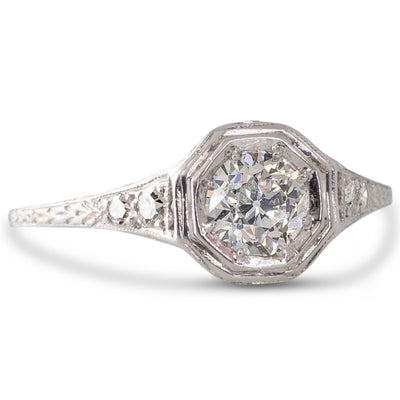 A 0.56ct Solitaire Diamond Ring