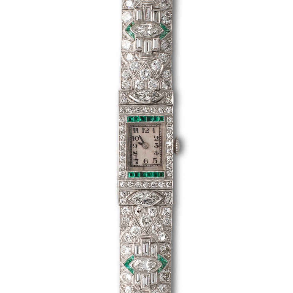 An Art Deco Diamond Watch