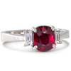 Unheated 1.14ct Ruby & Diamond Ring