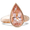 Pear Shape Morganite Ring 3.32ct