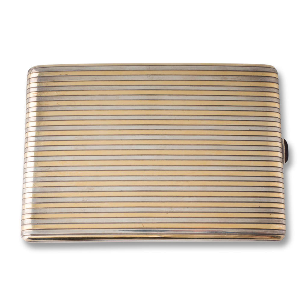 A Silver & Gold Cigarette Case