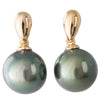 Tahitian Pearl Drop Stud Earrings