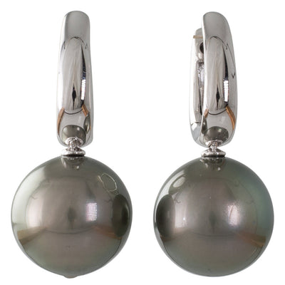 13mm Tahitian Pearl Huggie Earrings